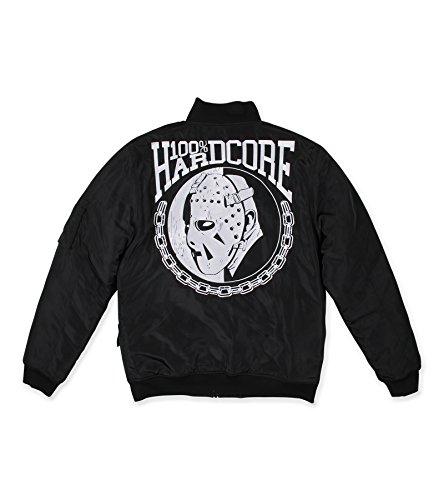 Bomberjacke 100% Hardcore 'HOCKEY MASK' Gabber Jacket Jacke (XXL)