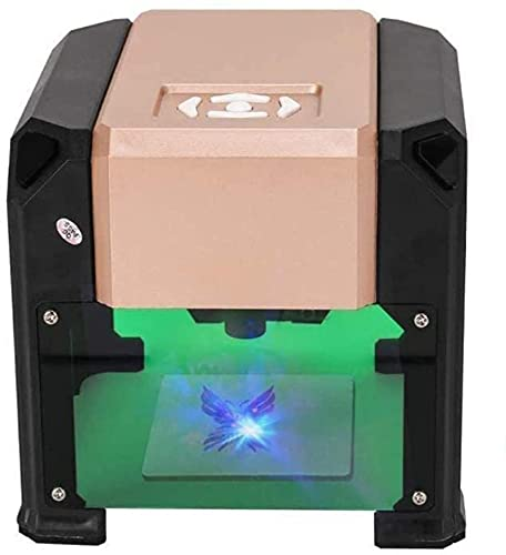 3000MW Mini Máquina de grabado láser Máquina de escritorio Alta velocidad CNC Impresora láser grabador para talla de bricolaje Área de trabajo de madera grabadora de artesanía 8 x 8 cm
