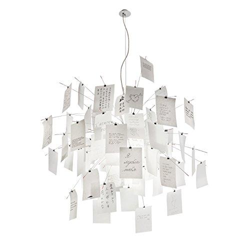 Ingo Maurer - Zettel'z 5 Pendelleuchte - Weiß - Glas Papier Stahlplatten - 120 x 120 cm