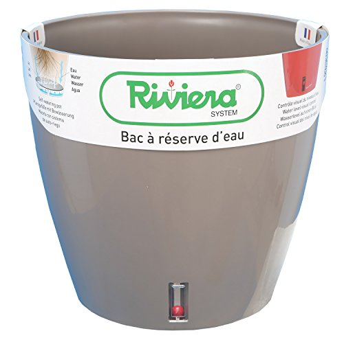 Riviera-Pot DE Fleurs EVA Rond Ø36-TAUPE
