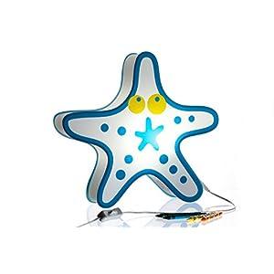 Nursery Lamp & Kid's Room Lamp – Colorful LED Decorative Lamp – Starfish Design