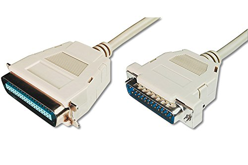 DIGITUS Pralleles Drucker Kabel D Sub 25 zu Centronics 36 Stecker zu Stecker 18m Anschluss Kabel Beige
