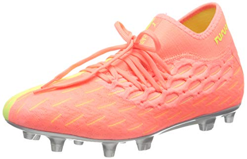 PUMA Future 5.2 Netfit Osg FG/AG, Scarpe da Calcio Uomo, Rosa (Nrgy Peach/Fizzy Yellow), 46 EU