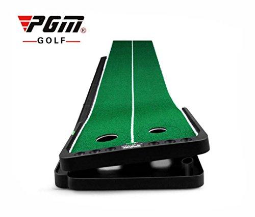 PGM Crestgolf Golf-Putting-Matte, verstellbar, für drinnen und draußen, mit automatischer Ballrückführung, professionelles tragbares Putting-Trainings-Set, extralang 3 m