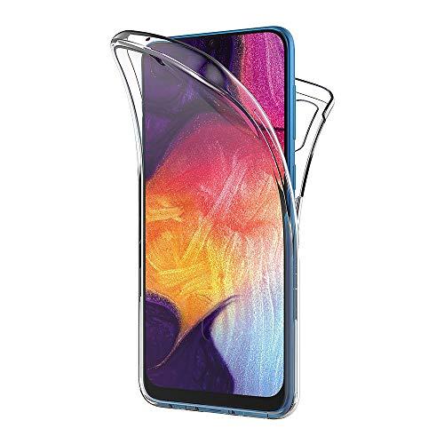 AICEK Compatible Samsung Galaxy A50 Hülle, 360°Full Body Transparent Silikon Schutzhülle für Samsung A50 Hülle Durchsichtige TPU Bumper Galaxy A50 Handyhülle (6,4 Zoll)