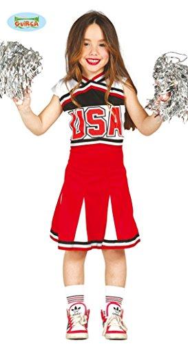 Vestito da cheerleader costume bambina 7-9 anni