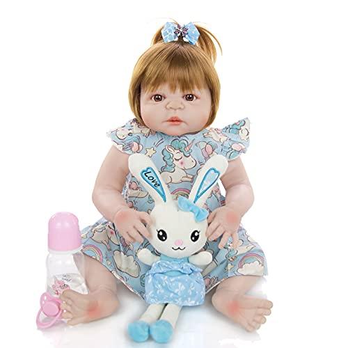 ZTLY Muñeca de simulación de Silicona, bebé renacido, bebé Lindo, Adecuado como Regalo para la Familia