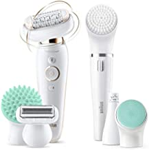 Braun Epilator Silk-épil 9 Flex 9-300 Beauty Set, Facial Hair Removal for Women, Shaver & Trimmer, Cordless, Rechareable, Wet & Dry, FaceSpa