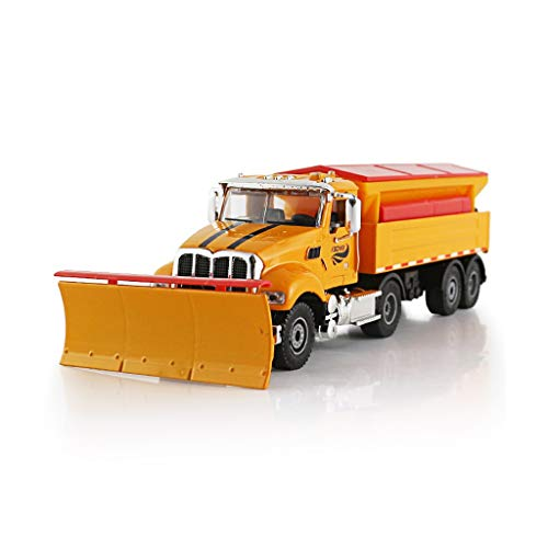 SHLIN-Modèle de voiture Alliage Ingénierie Modèle De Voiture Enfant Garçon Jouet 1:50 Pelle Neige Modèle De Voiture De Voiture Anniversaire De Noël Jouet Cadeau pour Enfants (Couleur : Orange)