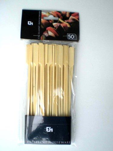 Fleischspiesse Party Fingerfood Holz Bambus 50 Stück