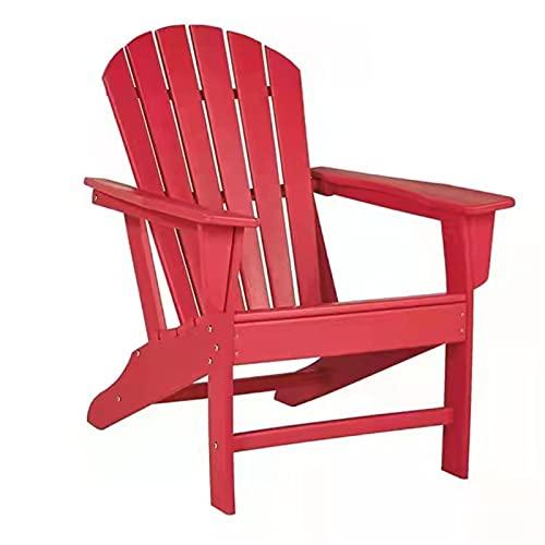 Silla Adirondack |Tamaño para adultos, resistente a la intemperie para el jardín de la cubierta del patio, el patio trasero y el césped Mobiliario |Fácil mantenimiento y diseño clásico de la s