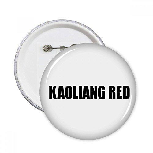 DIYthinker Regalo botón Kaoliang Color Rojo Negro Nombre pernos redondos Placa Ropa decoración 5pcs Multicolor XXL