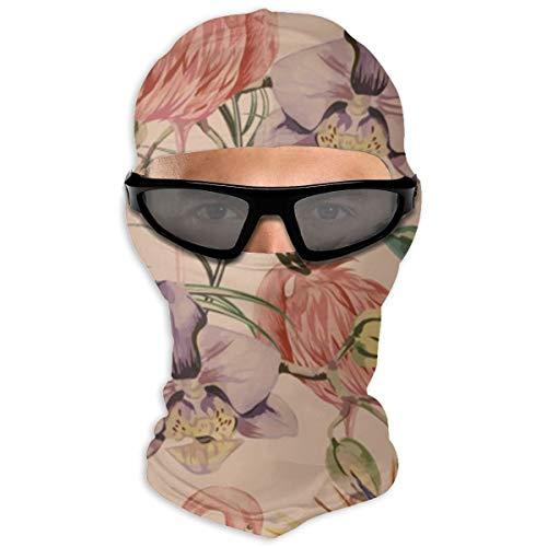 N/A Full Face Masker Exotische Botanische Behang, Vintage Boho Stijl Hood Zonnebrandcrème Masker Dubbele Laag Koud Voor Mannen En Vrouwen