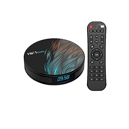 Android TV Box 9.0, la última versión de 2021 Android TV Box 4GB RAM 32GB ROM, RK3318 Quad-Core 64bit Cortex-A53, Android Box 4K Ultra HD HDR, Smart TV Box,B:4G+64G