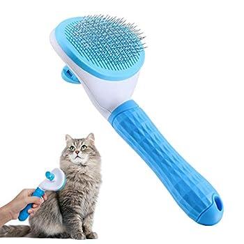 JWTEEE Brosse à poils longs pour chat, brosse autonettoyante, brosse pour chien, brosse à poils longs, brosse à poils courts
