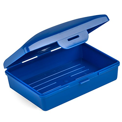 Hugging Tree Hill Soap Box Dish - Cobalt Blue - Container Perfect for Cosmetics, Travel, Camp, and Storage. Made in USA - 4 x 2.5 x 1.5 in. (Blue)