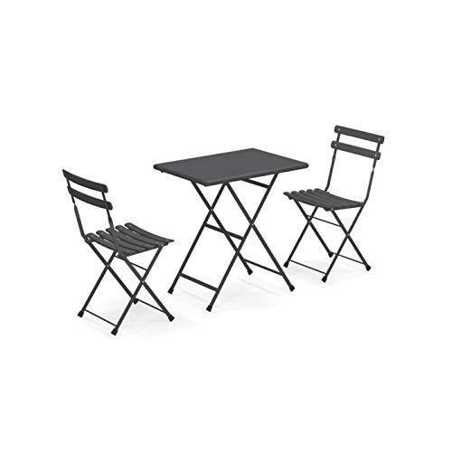 EMU Outdoor-Set Arc En Ciel Tisch 70 x 50 cm + 2 Stühle Gartenmöbel Bar
