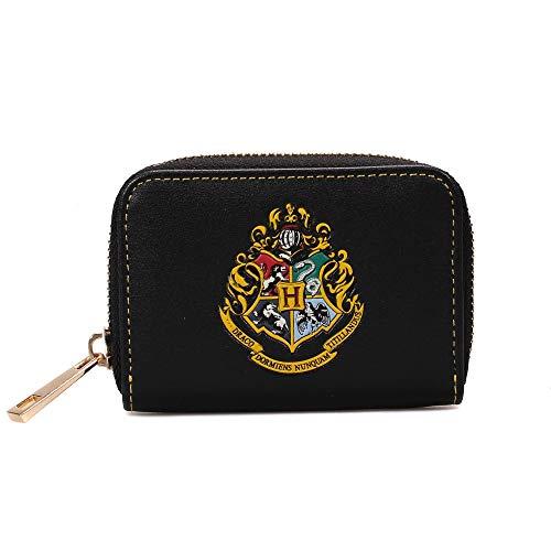 Harry Potter Kleingeldbörse Hogwarts Wappen 11x8x2,5cm schwarz
