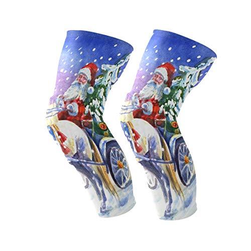 COOSUN Kerstman met paard knie beugel, knie compressie mouwen ondersteuning voor hardlopen, artritis, meniscus scheuren, sport, gewrichtspijn verlichting en letsel herstel