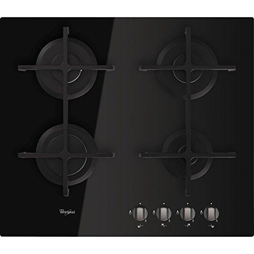 Whirlpool Gos 6413/nb Hob – Plaque (Built-in, gaz, Glass, Black, Cast Iron, Rotary)