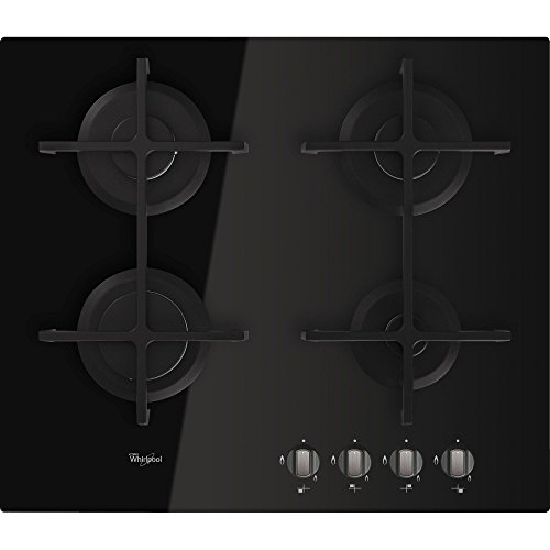 Whirlpool Gos 6413/nb Hob – Plaque (Built-in, gaz, Glass, Black, Cast Iron, Rotary)