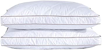 2-Pack puredown Natural Goose Down Feather Sleeping Cotton Pillow Cover