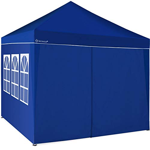 KESSER® 2X Seitenwand Blau für Pavillon 3x3m - Faltpavillon Pop Up | klappbar | platzsparend | verstaubar