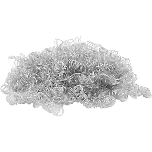 Preisvergleich Produktbild Lockiges Haar,  hellgrau,  15g