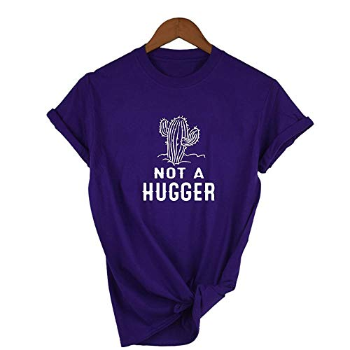 Camiseta para Mujer Camisetas Mujer Camiseta Negra Strong Cactus Summer Fashion Graphic Shirt Ropa XL 38S6-Fstpp-