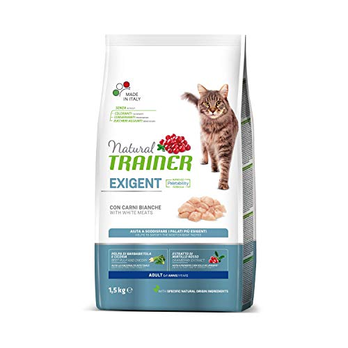Trainer Natural Cat Exigent Adult con Carni Bianche 1.5 kg X...
