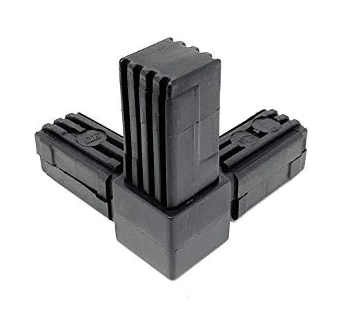 Design61 5x Steckverbinder für Vierkantrohre mit Abgang Rohrverbinder 90° 20 x 20 x 1,5 mm