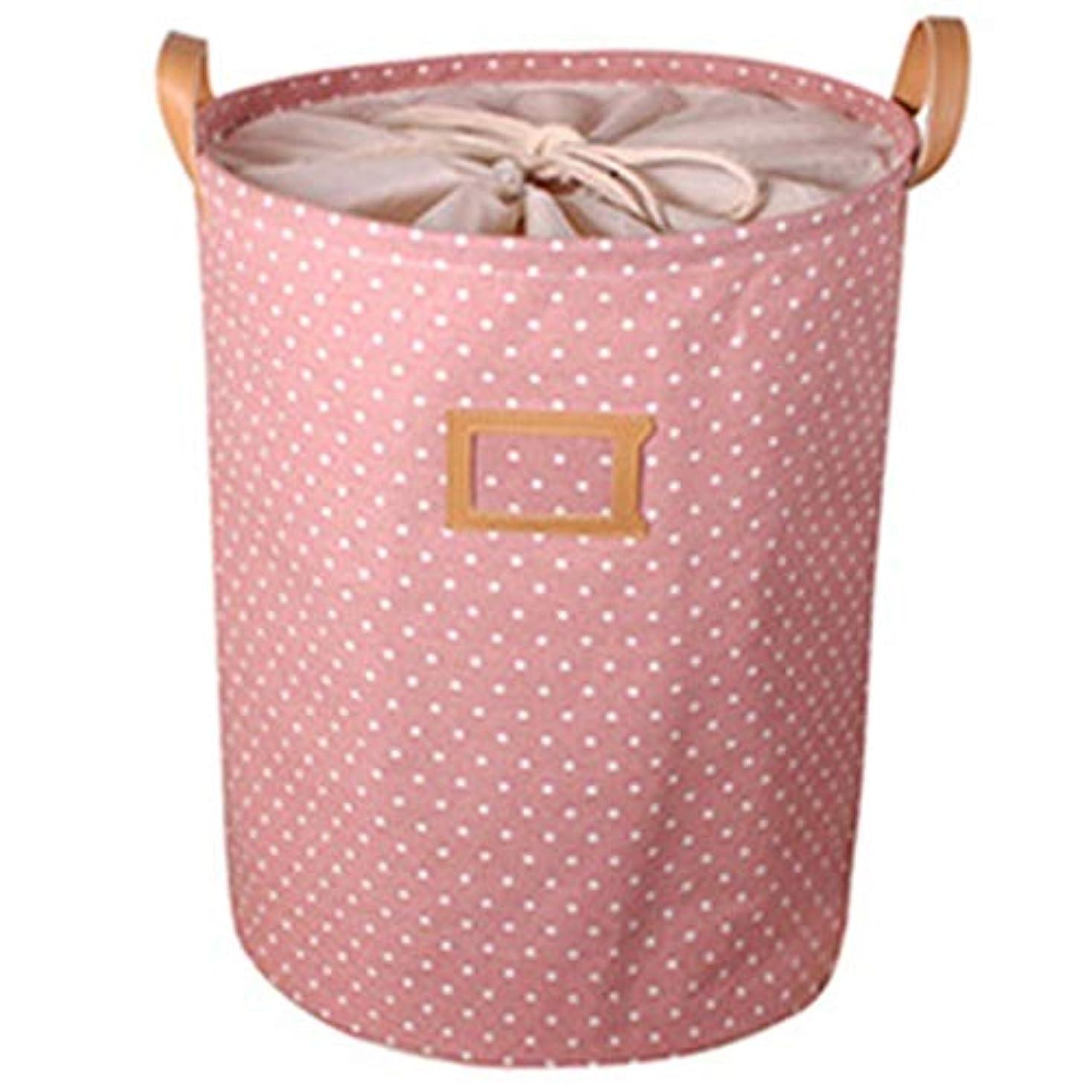 RETYLY 防水、ランドリーのバスケット、ギフトバッグ、服の収納バスケット、ホ家庭用洋服のバケツ、子供のおもちゃの収納用ランドリーバスケット、ピンク