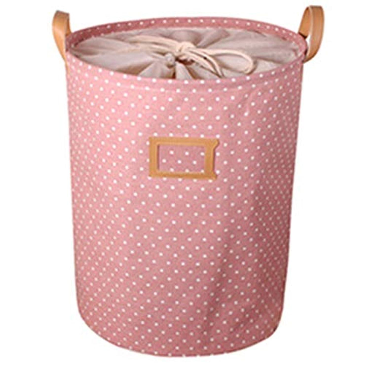 メニューイタリック赤字RETYLY 防水、ランドリーのバスケット、ギフトバッグ、服の収納バスケット、ホ家庭用洋服のバケツ、子供のおもちゃの収納用ランドリーバスケット、ピンク