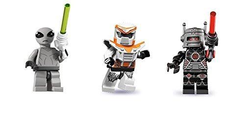 LEGO Classic Alien, Battle Mech, and Evil Robot Minifigures Custom Bundle