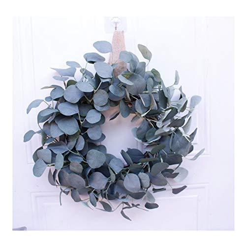 YNGJUEN Artificial Eucalyptus Garland Home Küche Büro Schlafzimmer Esszimmer Dekoration Silk künstliche Haustür Garland 40cm