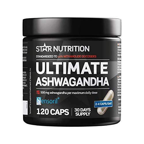 Star Nutrition | Ashwaganda Tablets | Highly Concentrated Ashwagandha Supplement to Increase Muscle Growth, Sleeping Pills for Sleep Aid | Stress Relief & Anxiety Relief | 120 Ashwagandha Capsules