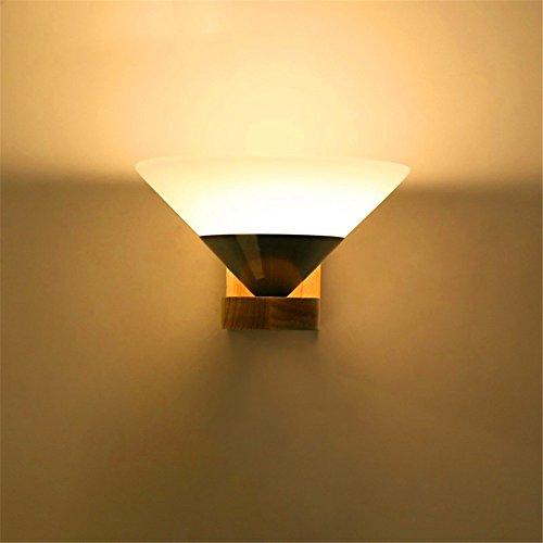 WEXLX Mur en bois simple Mur lumière Lampe pour l'allée de Salon Chambre à coucher Balcon Hauteur Largeur12 cm12 cm