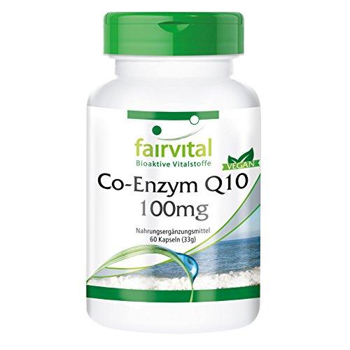 Coenzima Q10 100mg - VEGANA - CoQ10 Ubiquinona - 60 Cápsulas - Calidad Alemana