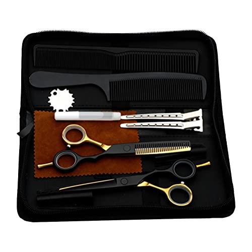 HEALLILY Kit de Tijeras para El Cabello Tijeras Profesionales para Cortar El Pelo Tijeras para Adelgazar Pinzas Seccionales para El Cabello Herramientas de Salón