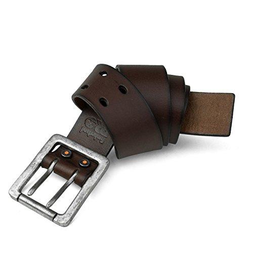 Timberland PRO - Cintura in pelle a doppio rebbio da uomo, 42 mm - Marrone - 36