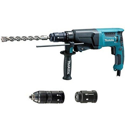 Makita HR2610T Bohrhammer für SDS Plus Werkzeuge mit Sonder Zubehör