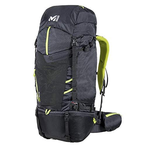 Millet – Ubic 60+10 – Sac à Dos Mixte pour Randonnée, Ski de Randonnée et Trekking – Volume Extensible 60+10 L – Noir