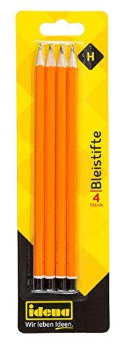 Idena 20014 - Bleistift, Härte H, 4 Stück