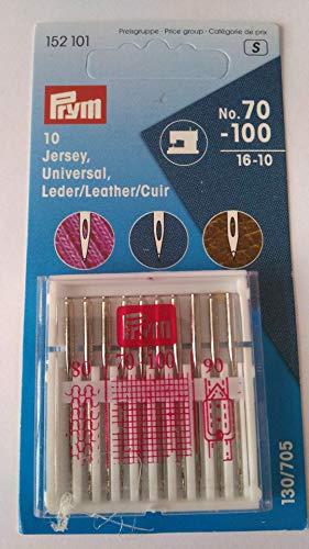 PRYM Nähmaschinennadel-Sortiment 130/705 Jersey, Universal, Leder