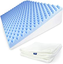 COZILIFT Sleeping Wedge Pillow for Adults - 8 inch Height. Luxury Cooling Gel-Infused Therapeutic Memory Foam, Versatile Back & Leg Pillow - Back Pain, Injury, Acid Reflux, GERD, Sinuses & Snoring.