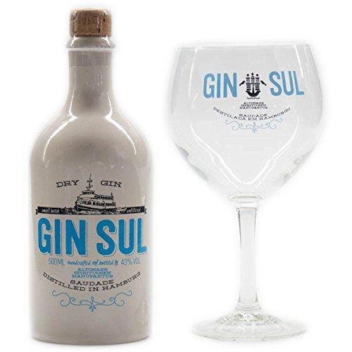 Gin Sul Dry Gin + 1x Gin Sul Glas 500ml 43% Vol.