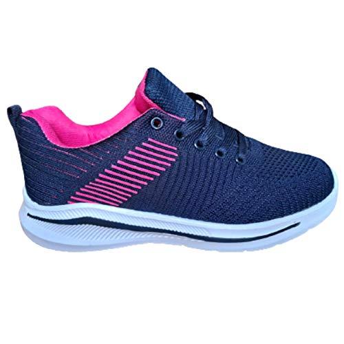 Zapatillas DEPORTIVA para Mujer muy LIGERAS Transpirables Cómodas para CAMINAR correr PASEAR (MARINO, numeric_39)
