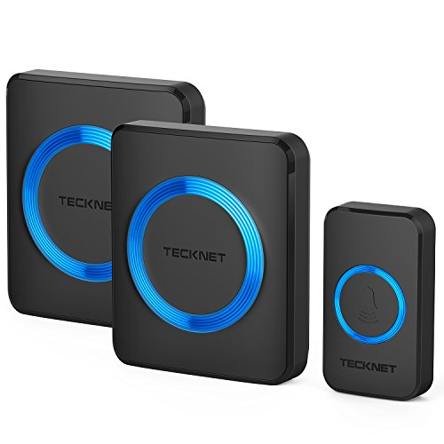 TECKNET Wireless Doorbell, Waterproof Twin Wall...