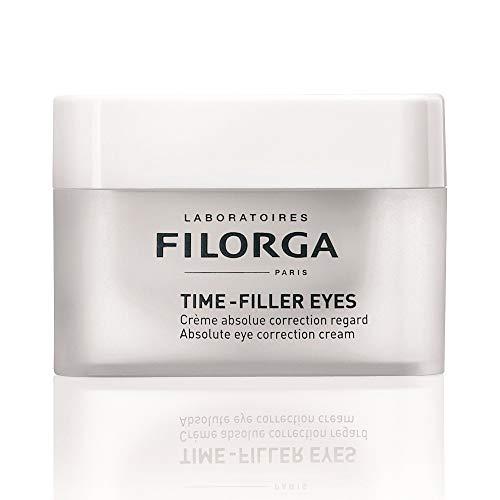 Laboratoires Filorga Paris TIME-FILLER EYES Absolute Eye Correction Cream for Wrinkles with Hyaluronic Acid, 0.5 Fl Oz