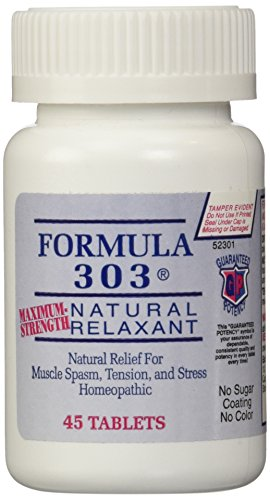 Dee CEE Labs Formula 303 Maximum Strength Natural Relaxant Tablets, 45 Tablets